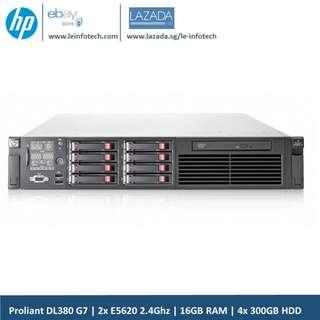 HP ProLiant DL380 G7 Rack Server 8-Core-E5620#2.40GHz-16GB RAM-2x 450GB OEM SAS HDD