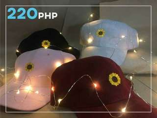 Customizable Sunflower Caps