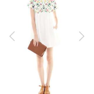 *Brand New* Embroidery Romper Dress In White