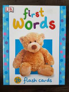DK Little Learners - First Words 26 Flash Cards