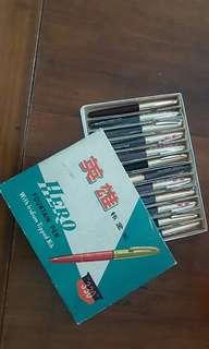 英雄牌 墨水筆 十二支 全新 Hero Fountain Pen 12 pcs