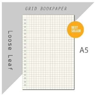 isi binder loose leaf bookpaper ( grid / dotted )