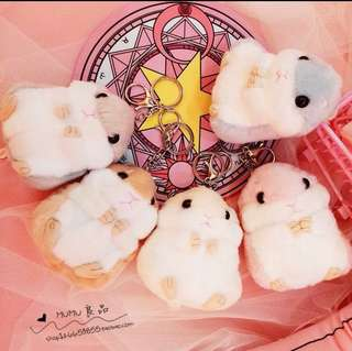 Cute hamster key chain