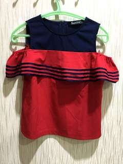 Sumire Woman Clothes Top Red Color