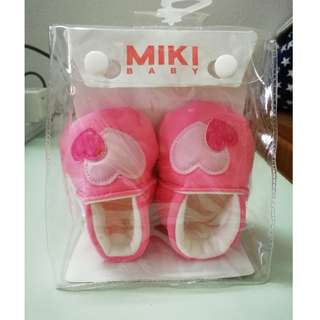 Miki Baby Shoes (Pink) - 3 ~ 6 Month