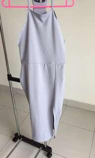 Bodycon slit dress
