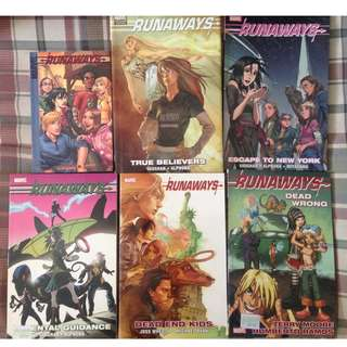 Runaways Graphic Novels and Comics set