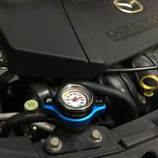 Radiator Cap with Water Temperature Meter Available 2 size:0.9Bar/1.3Bar