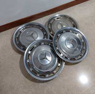 Vintage Mercedes Benz wheel covers