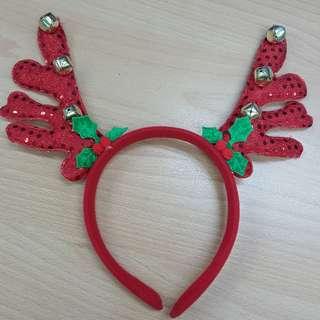 Christmas reindeer Headband / hairband