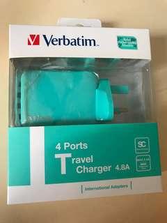 旅行用USB充電器-4 Ports Travel Charger 4.8A