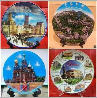 Pajangan Piring / Countries icon plate