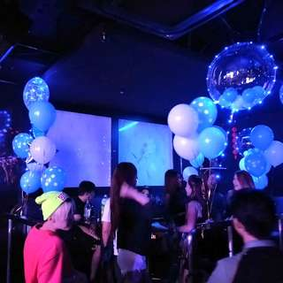 Night clubs KTV TD birthday celebration balloon deco
