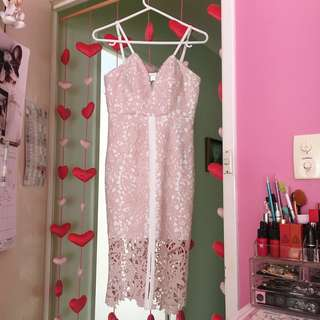 Seduce Lily Dress in Blush