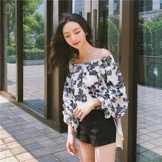 Melissa White Floral Off Shoulder Top