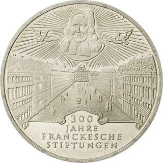10 Mark 1998德國 - Francke Foundations 925銀幣