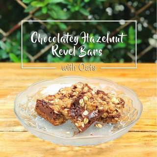 Chocolatey Hazelnut Revel Bars with Oats