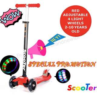 Kick scooter kids scooter skate scooter 4 wheels with LED lights