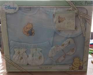 Disney Classic Pooh Baby 100% Cotton 6pcs Giftset Apparel