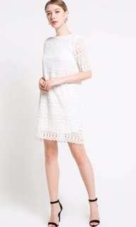 dress lace white merk edition