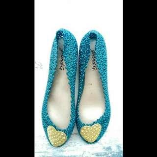 Flat shoes flatshoes sepatu flat karet sandal sendal karet