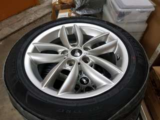 """BrandNew Mini Cooper Paceman Countryman Silver 17"""" Rim with Michelin Primacy Tyres set of 4"""