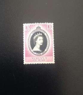 Perak 1953 Coronation 1V Mint (0432)