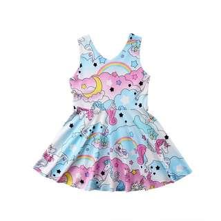 Brand new unicorn and rainbow dress