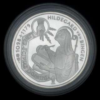10馬克 1998年 900年Hildegard von Bingen 925銀幣