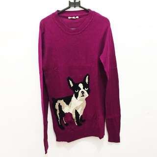 Pug Knitted Sweater