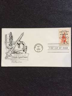US 1965 Crusade Agst Cancer FDC stamp