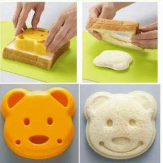 cetakan roti sandwich motif beruang bekal makan anak lucu - HKN180