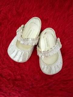 Silver Crib Shoes