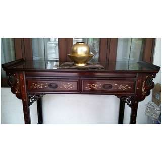 Matured Rosewood Mother-of-Pearl Display Sideboard / Altar