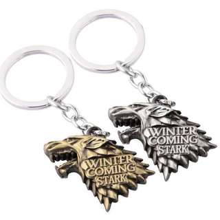 GAME OF THRONES KEY CHAIN KEYCHAIN STARK WINTER IS COMING