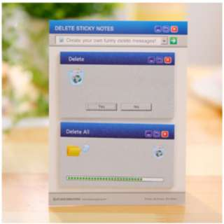 Sticky notes Memo stick it dengan motif desktop error - KSY065