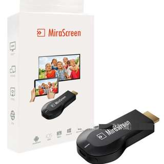 全新分享相片到大屏 miraScreen 無線HDMI連接器 手機推送寶 WiFi同屏器Wifi Display Dongle Mobile Connected to LCD and TV