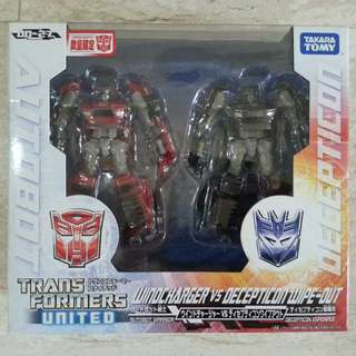 Transformers United Windcharger and wipeout MISB