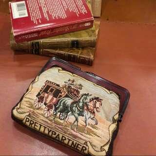 歐洲古董織錦包包,手袋。