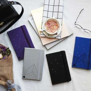 Silver Starry Night notebook