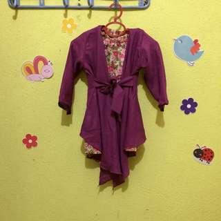 Kimono wrap purple