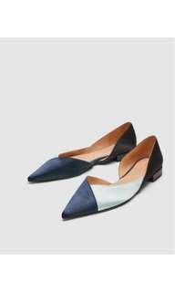 Zara tricolor flats