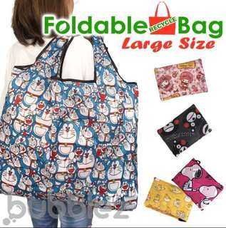 🌟 FOLDABLE RECYCLE BAG (LARGE SIZE) 🌟 [SANRIO CARTOONS  2] / ECO / TOTE