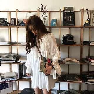 PO Delphine Long Sleeves Babydoll Dress
