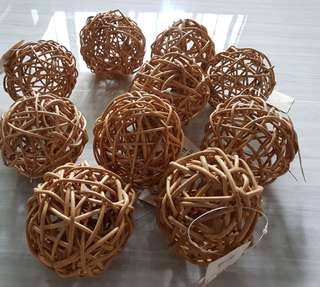 Bamboo balls for decoration