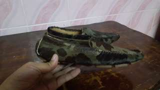 ralph lauren camouflage pony hair loafers for women