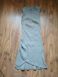 Grey Sleeveless Knitted Casual Dress