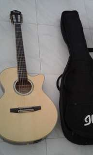 Ibanez Mint Condition Electric Classical Solid Top Classical Guitar With Ibanez Guitar Bag
