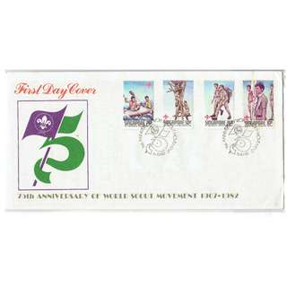 FDC  #284  75th Anniversary of Workd Scout Movement 1907 - 1982