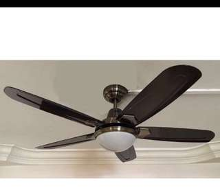 "Free Install + 48"" Ceiling Fan + Branded  Led Light + remote"